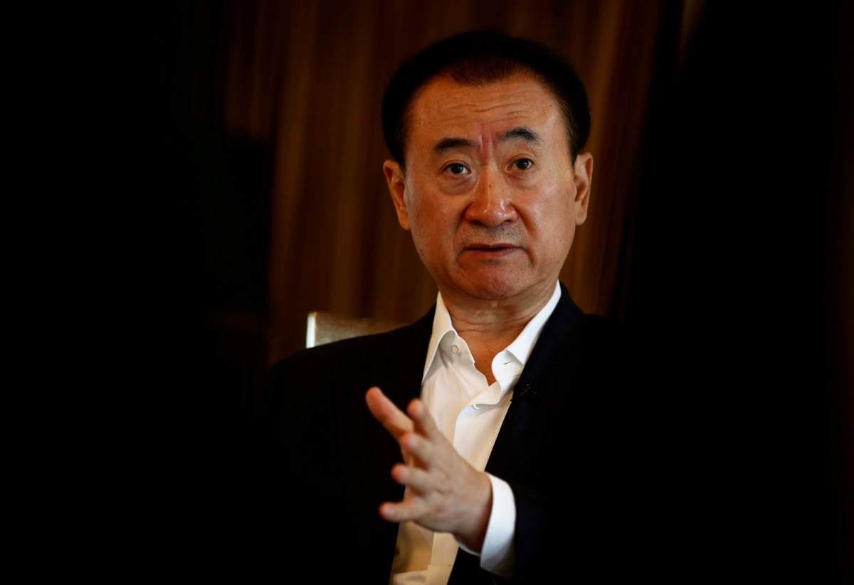 Wang Jianlin, chairman of the Wanda Group, speaks during an interview in Beijing, China, August 23, 2016. REUTERS/Thomas Peter/File Photo