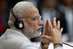 Indian Prime Minister Narendra Modi attends the ASEAN-India Summit in Vientiane