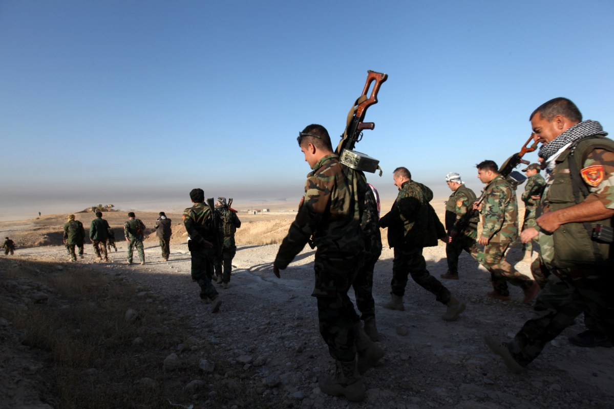 Peshmerga forces approach the east of Mosul. Photo: Reuters/Azad Lashkari