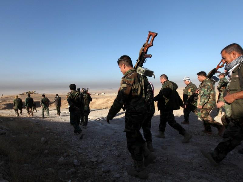 Peshmerga forces approach the east of Mosul. Photo: Reuters/Azad Lashkari