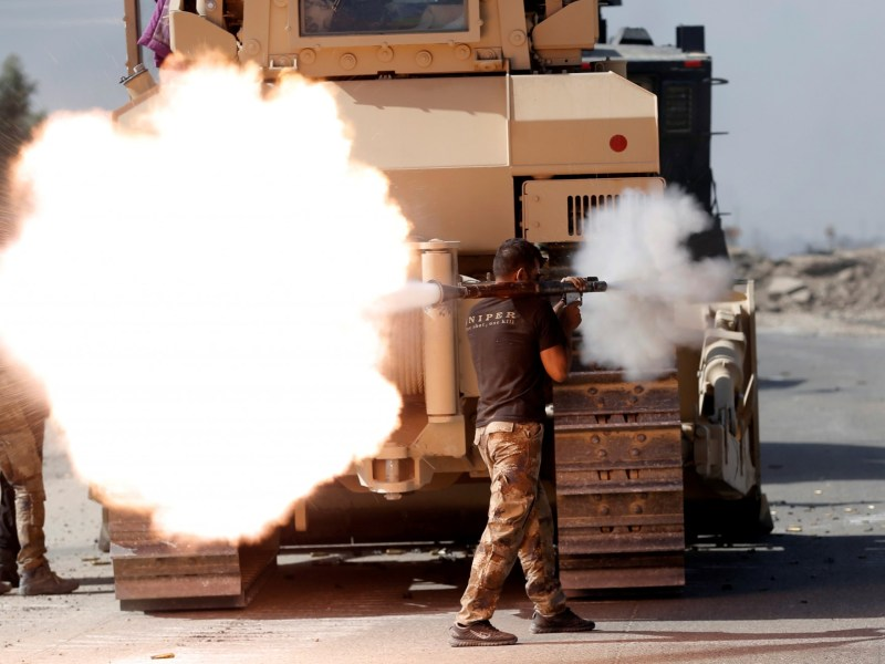 An Iraqi soldier fires a rocket propelled grenade during the offensive to retake Mosul from ISIS. Photo: Reuters