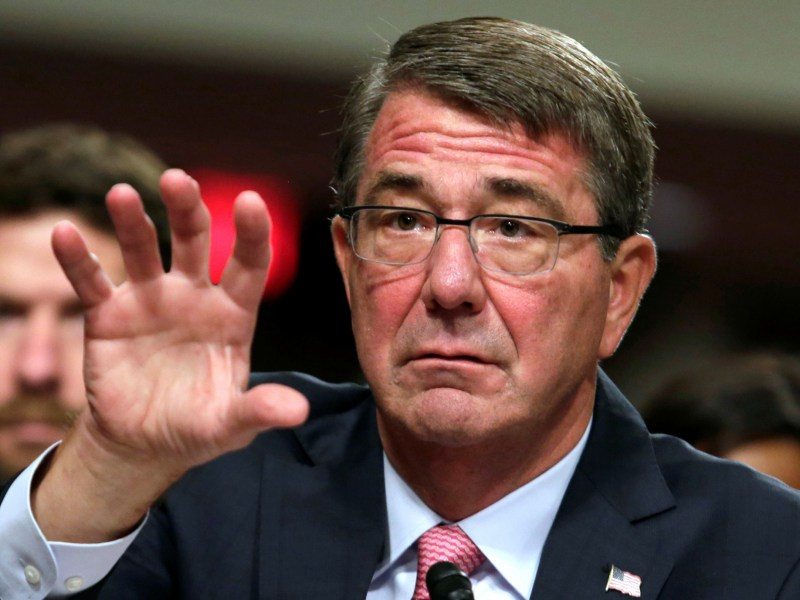 US Defense Secretary Ash Carter testifies before a Senate Armed Services Committee hearing in Washington on National Security Challenges and Ongoing Military Operations on September 22, 2016. Photo: Reuters/Yuri Gripas