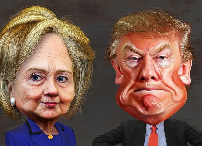 Hillary Clinton and Donald Trump. Photo: Flickr