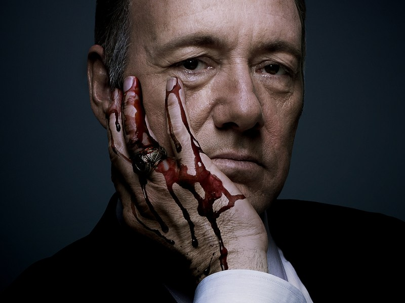 Promotional photo of Kevin Spacey in Netflix series House of Cards. Photo: Netflix