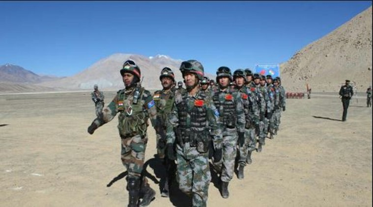 Indian and Chinese armies hold joint drills in eastern Ladakh. Photo courtesy: ANI/Twitter