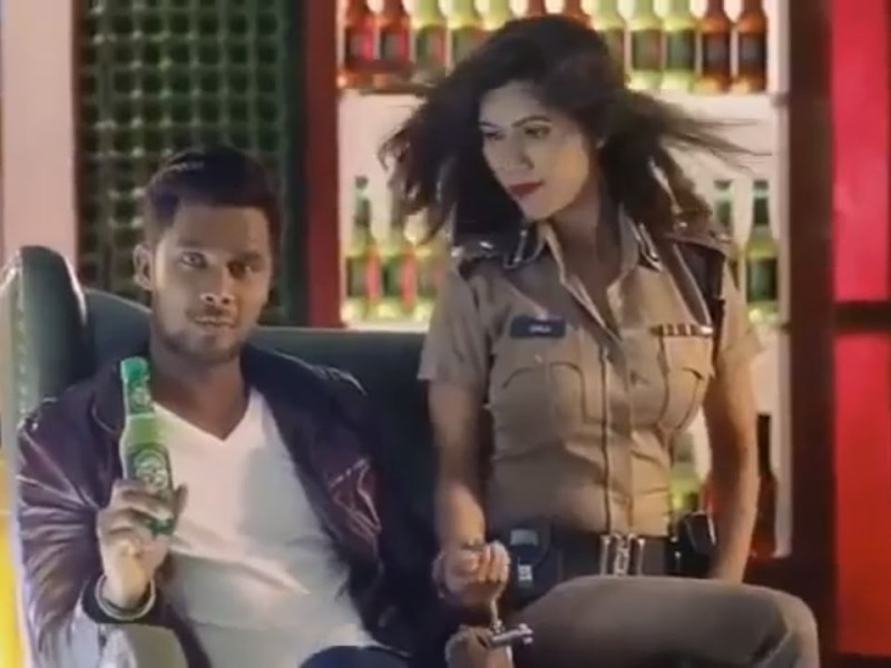 Screenshot from the Oscar malt beverage advert featuring Sabbir Rahman