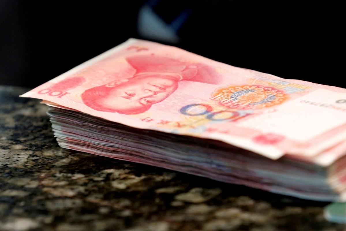 Chinese 100 yuan banknotes. Photo: Reuters/Kim Kyung-Hoon