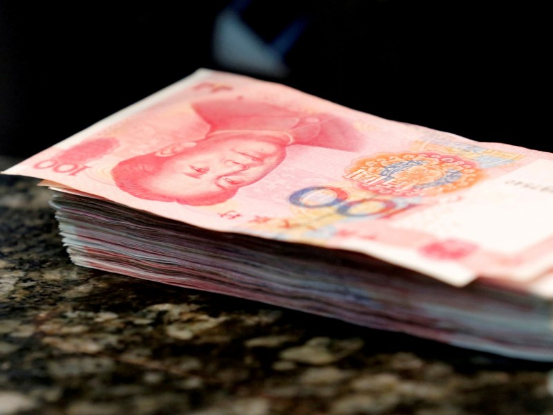 Chinese 100 yuan banknotes. Photo: Reuters/Kim Kyung-Hoon