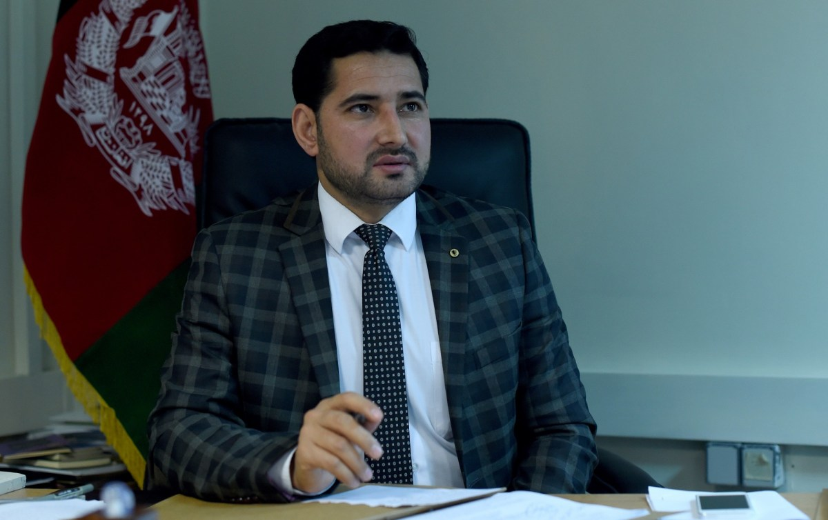 Alif Urfani, general director of the Afghan Criminal Justice Center Against Corruption at his office in Kabul, November 29, 2016. Photo: AFP/Wakil Kohsar