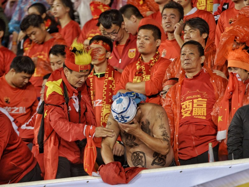 China's long suffering fans have seen their team slump to bottom of their World Cup qualifying group with just one point from four games. Photo: AFP