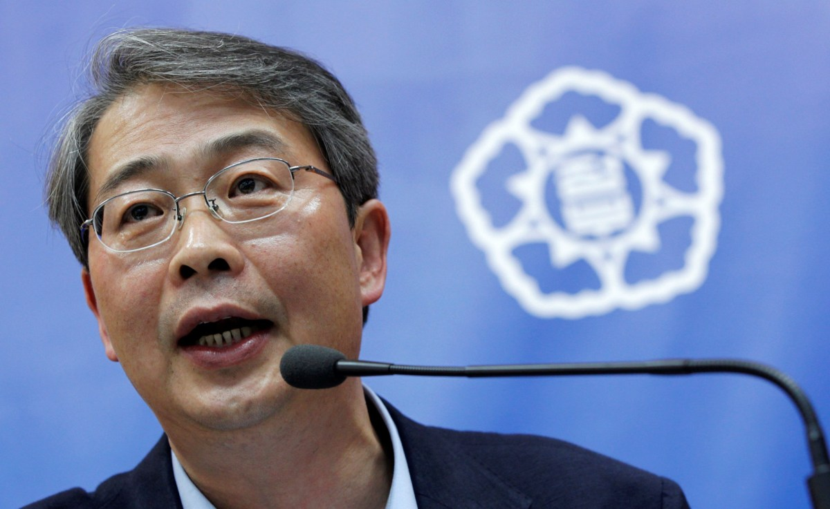 Yim Jong-yong, chairman of the financial services commission, becomes South Korea's new finance minister and deputy prime minister. Photo Reuters