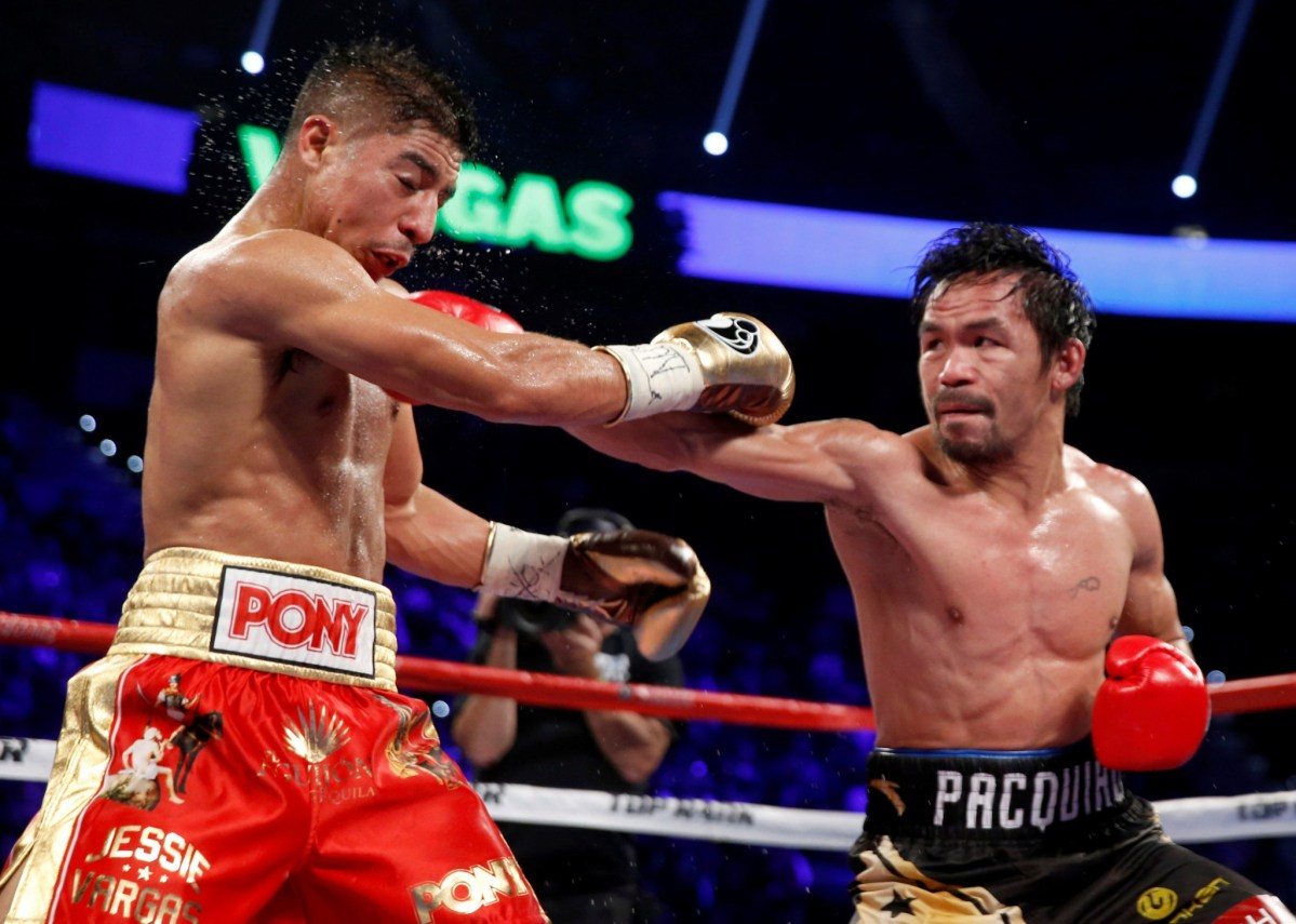 Manny Pacquiao wants to train up Japanese boxers. Photo : Steve Marcus, Reuters.