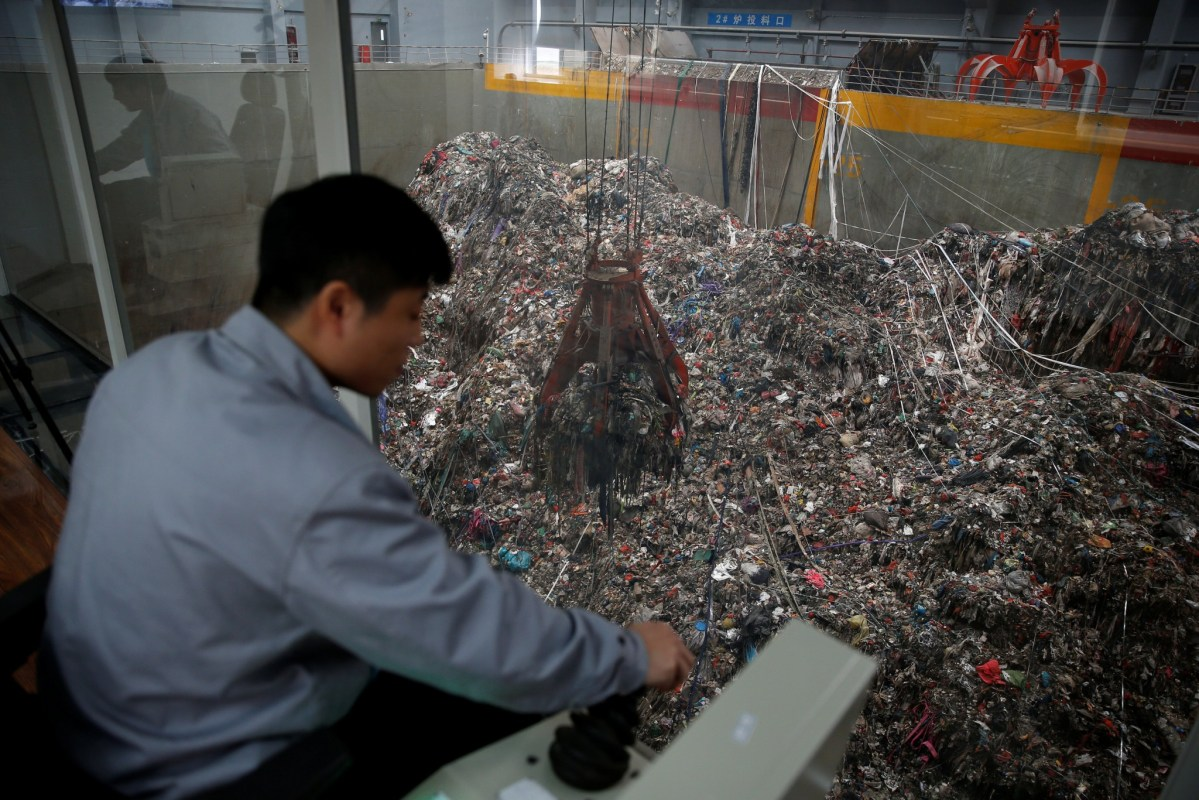 The Wujiang waste-to-energy plant in Jiangsu province. Photo: Reuters/Aly Song