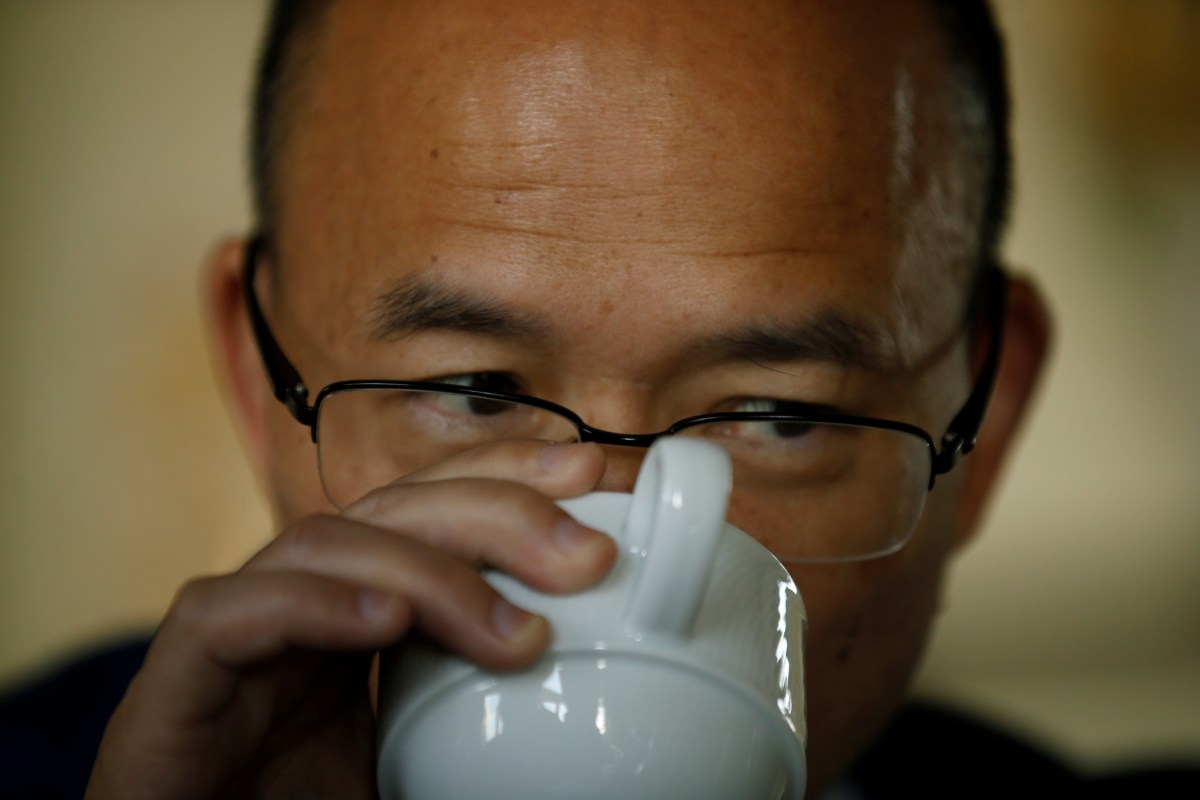Storm in a teacup: Fosun's Guo Guangchang says he's not fazed by Trump's rhetoric. Photo: Reuters.