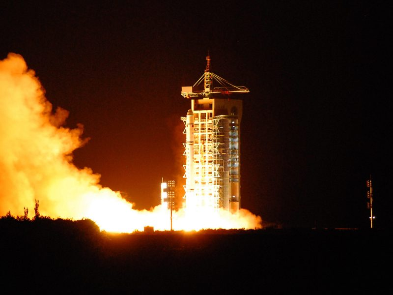 China's quantum satellite - named Micius after a 5th century BC Chinese scientist - blasts off from the Jiuquan satellite launch centre in China's northwest Gansu province on August 16, 2016.Photo: AFP