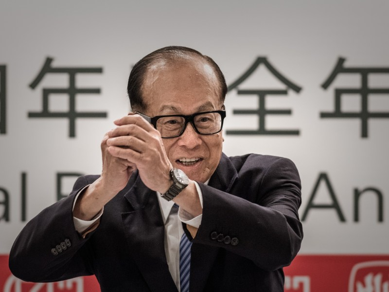 Li Ka-shing's bid for Duet sent the stock almost 15% higher. Photo: AFP