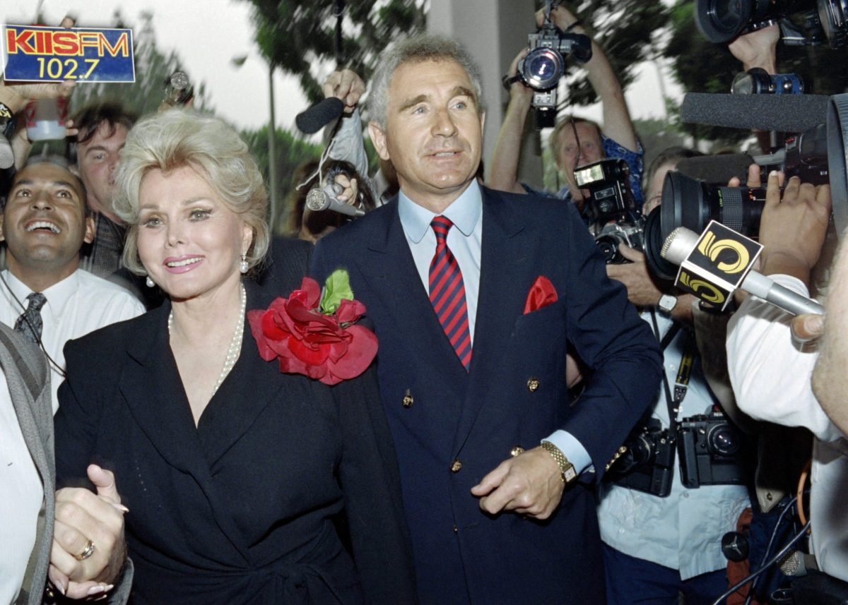 A 1989 photo of US actress Zsa Zsa Gabor and her husband Prince Frederick von Anhalt, Germany's duke of Saxony. Photo: AFP