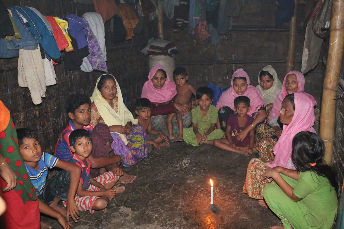 Rohingya Muslims who fled from violence in Myanmar take shelter at Leda unregistered Rohingya camp in Teknaf, Bangladesh. Photo: AFP/Zakir Hossain Chowdhury