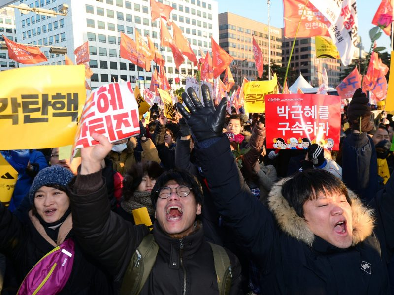 The scandal involving South Korean President Park Geun-hye has roiled the nation and sparked huge protests. Photo: News1 via Reuters