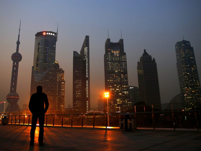 View of Pudong Financial District in Shanghai. Photo: Reuters / Carlos Barria