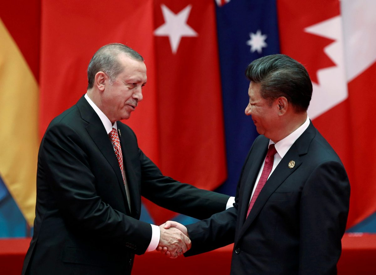 New order: Turkish President Tayyip Erdogan and Chinese Presdient Xi Jinping. Photo: Reuters/Damir Sagolj