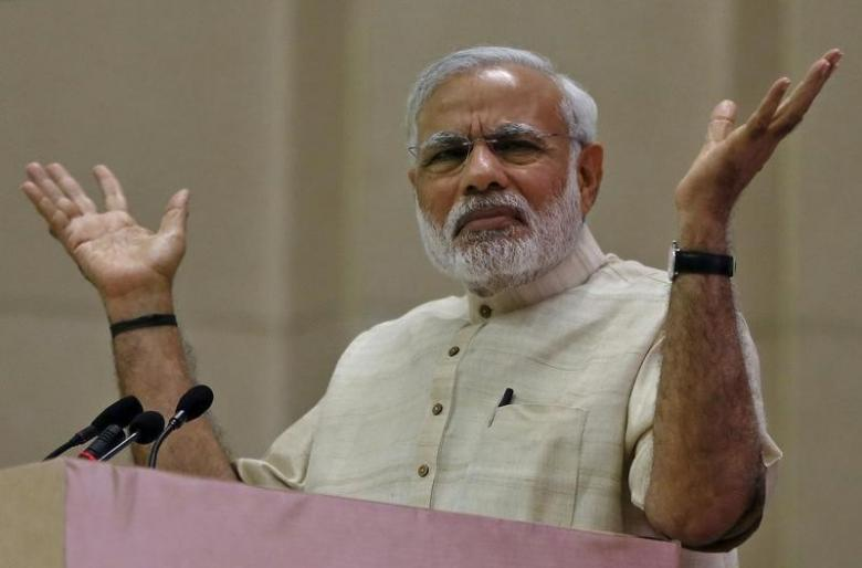 According to BJP, there may have been errors in the implementation of note ban but nobody can question the good intention of Prime Minister Narendra Modi. Photo/REUTERS