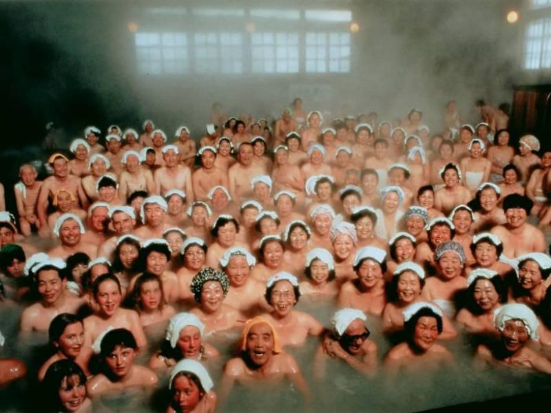Bathers sit in a bath at Sukayu Onsen, Aomori Prefecture. | Courtesy of Sukayu Onsen/James Hadfield
