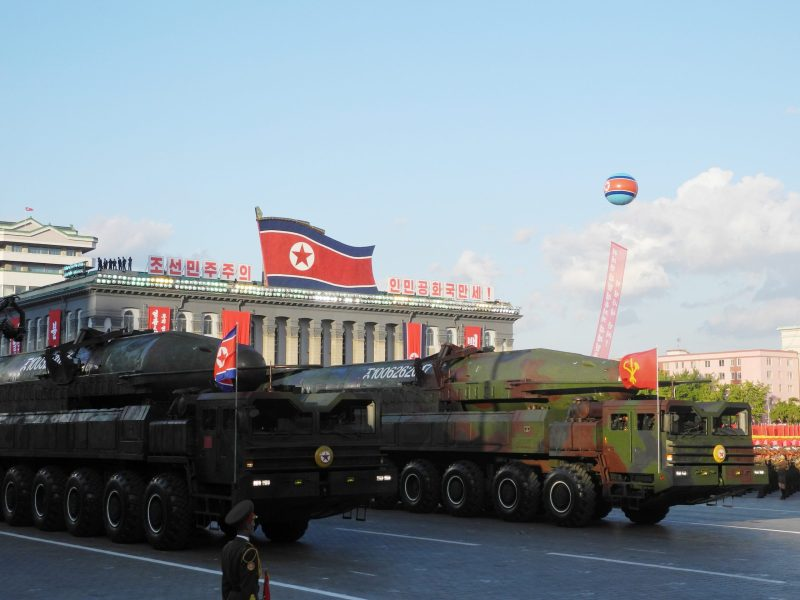 How does North Korea pay for the diesel in the trucks that move its missiles around? Photo: DPA/Joern Petring