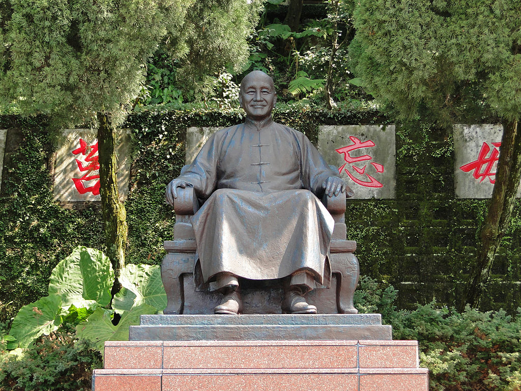 A statue of Chiang Kai-shek in Yangminshan National Park, Taiwan. Photo: Wikimedia Commons