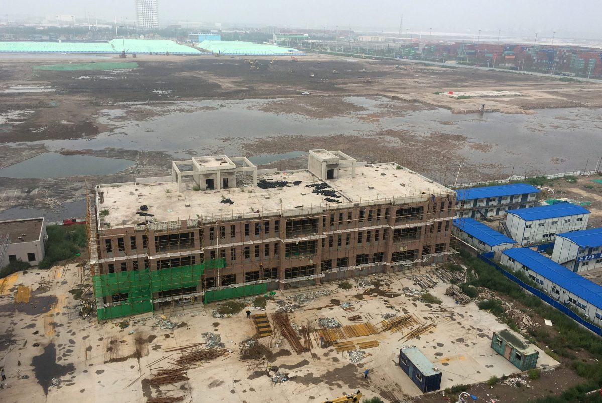 An overview shows the site of the explosions on August 12, 2015 at the Binhai new district, Tianjin, China, August 9, 2016.  Photo: Jason Lee/Reuters