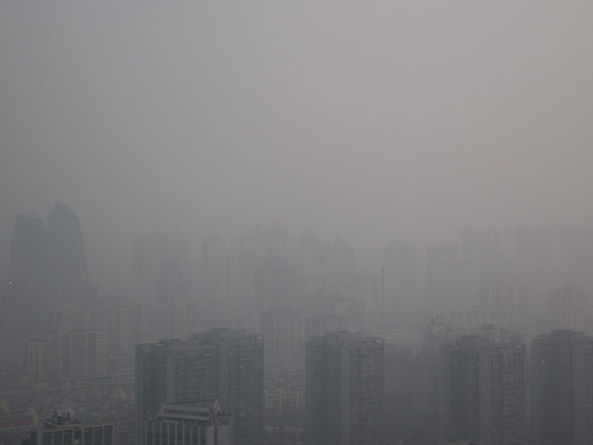 Buildings are seen among smog during a polluted day in Beijing, China, January 6, 2017. Photo: Reuters/Stringer