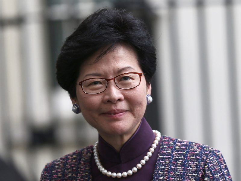 Carrie Lam, Chief Executive of Hong Kong. Photo: Reuters