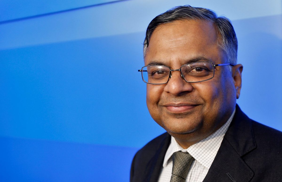 Tata Sons chairman-designate Natarajan Chandrasekaran poses after a news conference in Mumbai, India January 12, 2017. REUTERS/Danish Siddiqui