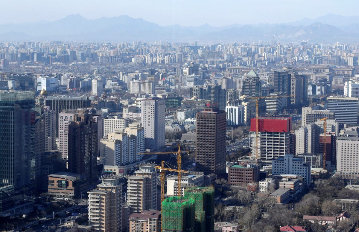 Residential and office buildings are seen in Beijing. Photo: Reuters, Jason Lee