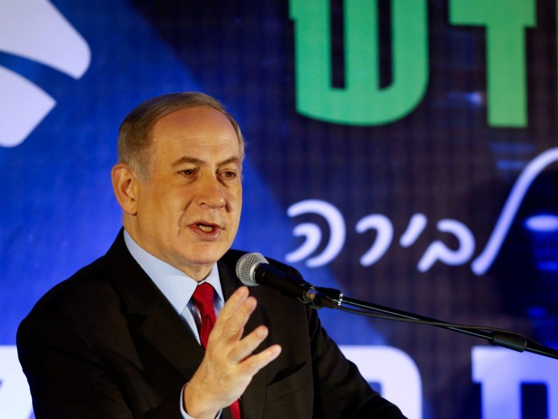 Israeli Prime Minister Benjamin Netanyahu speaks during an event marking the opening of the Harel Tunnels, part of project to upgrade the Tel Aviv-Jerusalem highway, near Jerusalem January 19, 2017. REUTERS/Ronen Zvulun