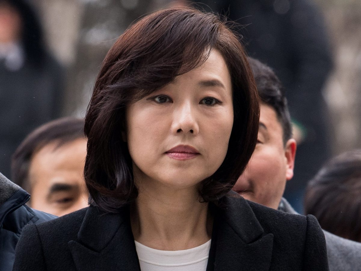 Culture Minister Cho Yoon-sun arrives at the Seoul Central District court in Seoul, South Korea, January 20, 2017. Picture taken on January 20, 2017.  Yoo Seung-kwan/News1 via Reuters