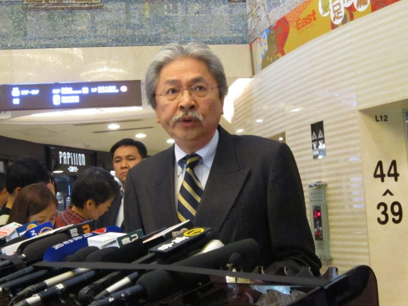 Former Hong Kong financial secretary John Tsang. Photo: Asia Times