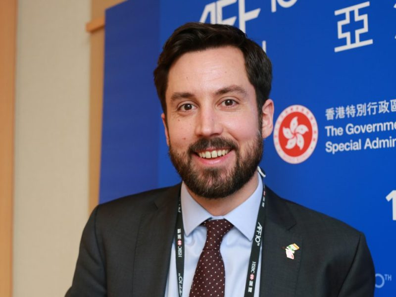 Eoghan Murphy, Ireland's Minister of State for Financial Services, attends the Asian Financial Forum in Hong Kong on Jan 17. Photo: Asia Times