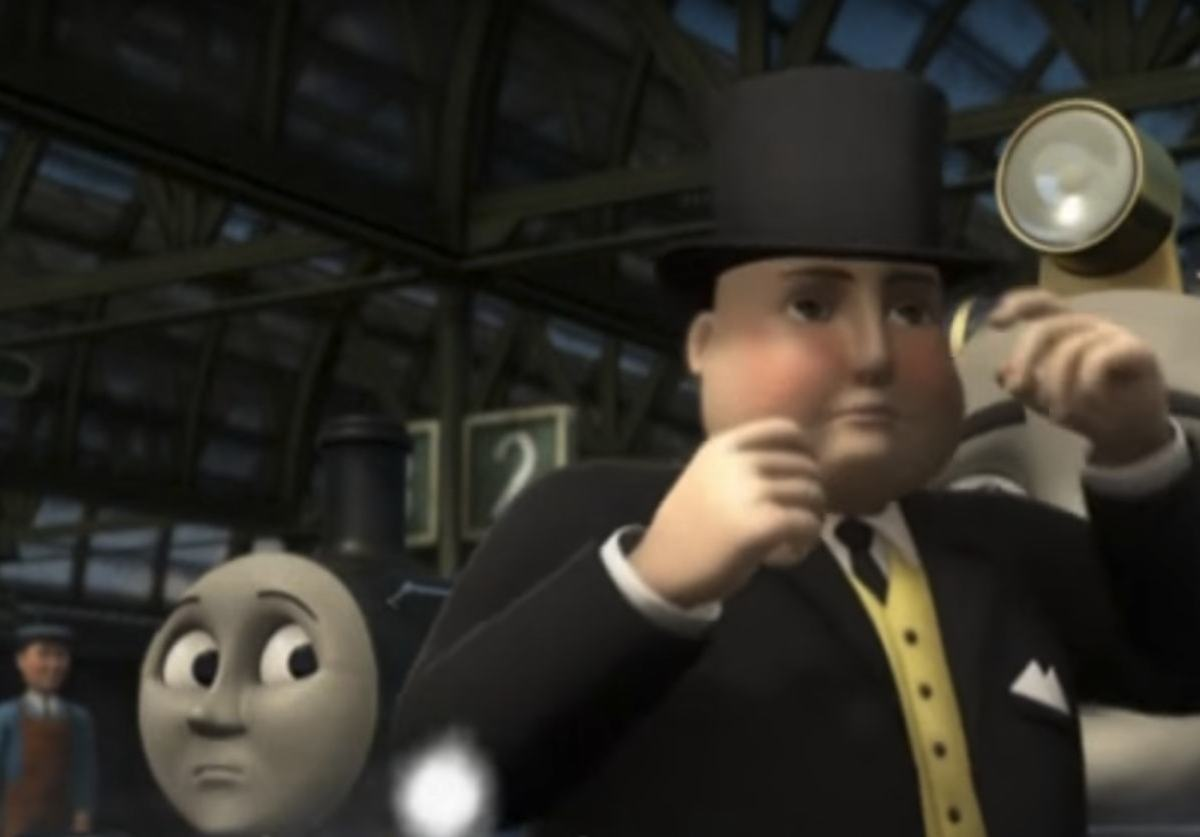 The Fat Controller: the nation that pioneered the train and built an empire along railway lines is now on the receiving end of the line. Photo via YouTube.