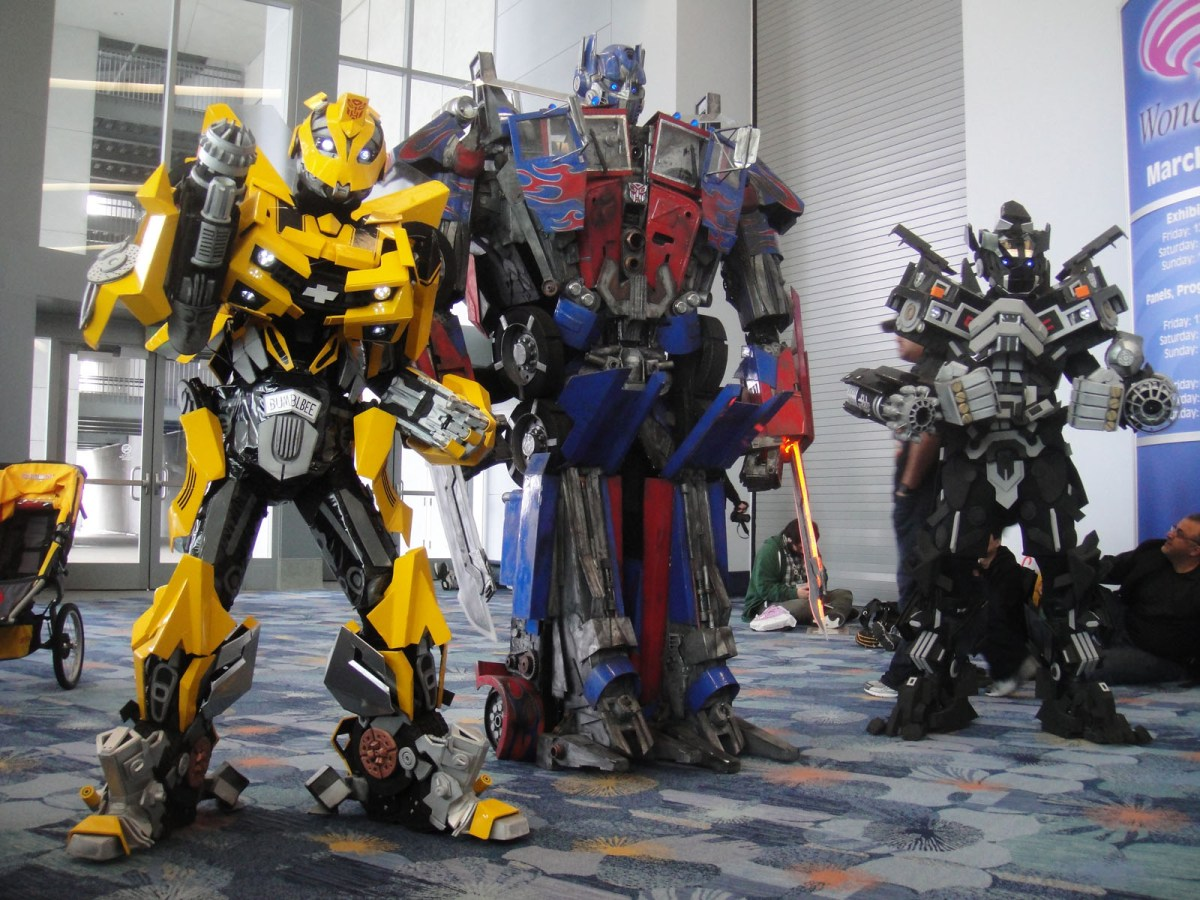 Transformers characters Bumblebee Optimus Prime and Ironhide. Photo: Wikimedia Commons
