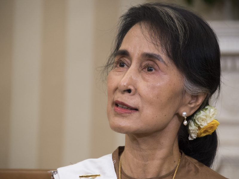 State Counselor Aung San Suu Kyi of Burma speaks during a bilateral meeting with US President Barack Obama (not seen) at the White House in Washington, September 14, 2016. Photo: AFP/Jim Watson