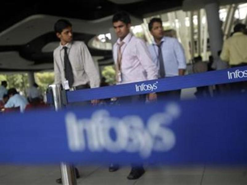 Infosys employees at the company's campus in Bangalore. Photo: Reuters