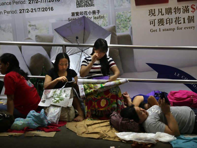 More than 300,000  domestic workers from Indonesia and the Philippines are employed in Hong Kong.  Photo: AFP/Isaac Lawrence