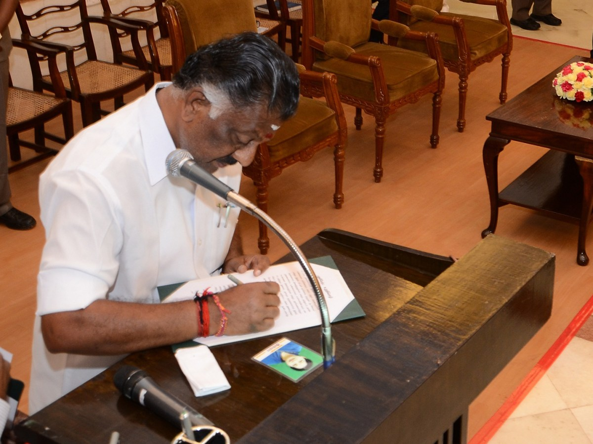 O Panneerselvam. Photo: India Today Group