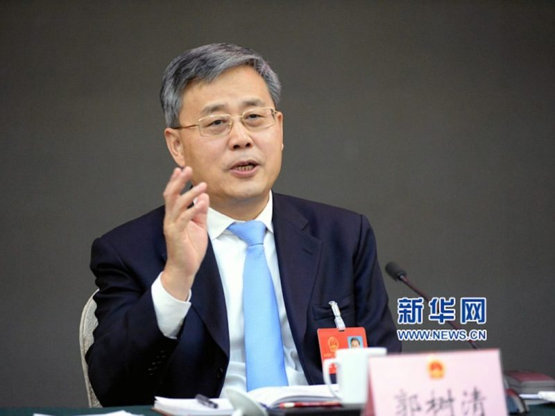 China Banking Regulatory Commission chief Guo Shuqing Photo: Xinhua