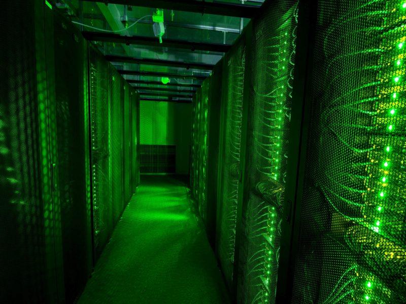 Servers for data storage are seen at Advania's Thor Data Center in Hafnarfjordur, Iceland. Photo: Reuters/Sigtryggur Ari