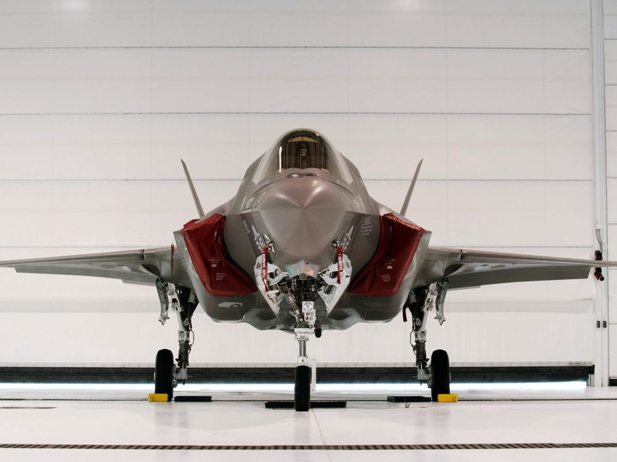A US Marine F-35B Joint Strike Fighter Jet sits in a hangar at Eglin Air Force Base in Florida. Photo: Reuters / Michael Spooneybarger