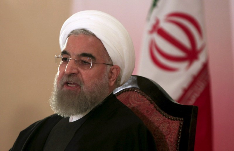 Iran's President Hassan Rouhani speaks during a news conference in Islamabad.  Photo: Reuters/Faisal Mahmood