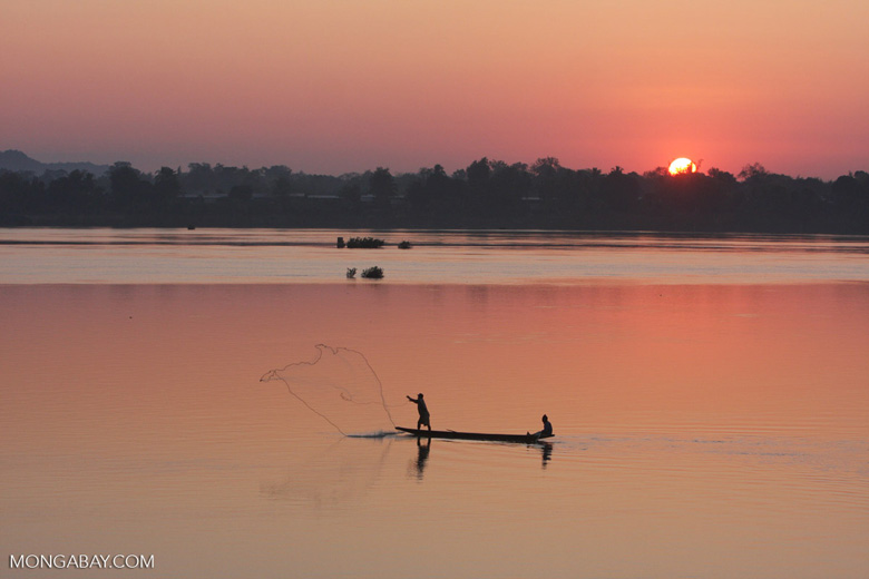 The Mekong River in Laos. Numerous dams are planned or under construction on the Mekong River and its tributaries, despite adverse impacts to riverine communities. Photo: Rhett A. Butler/Mongabay