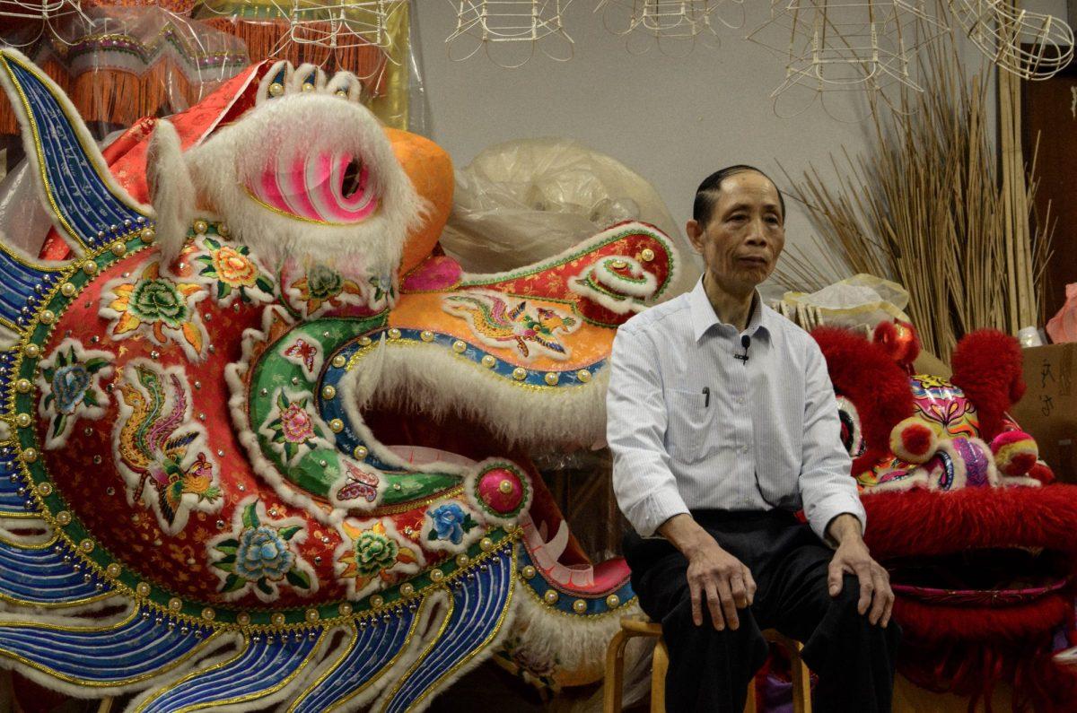 Hong Kong's lantern master Chan Yiu-wah has been making traditional paper lanterns for more than 30 years. Photo: Benny Kung / Asia Times
